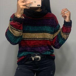 Vintage 90's Chenille Turtle Neck Sweater SZ M